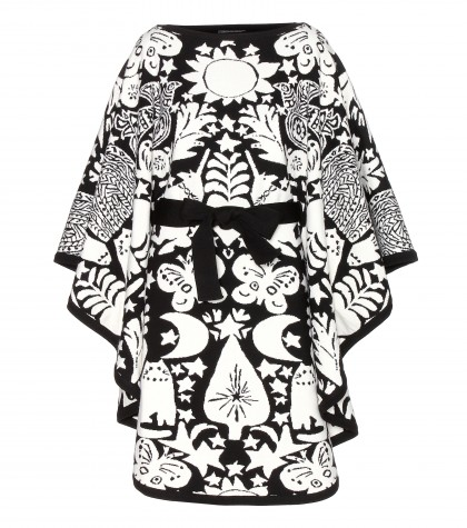 Alexander McQueen Wool Jacquard Poncho