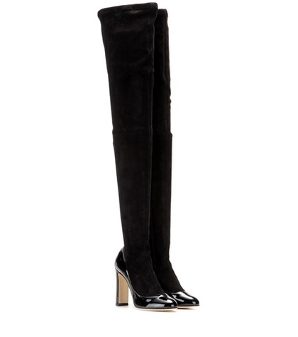Dolce & Gabbana Suede And Patent Leather Over-the-knee Boots