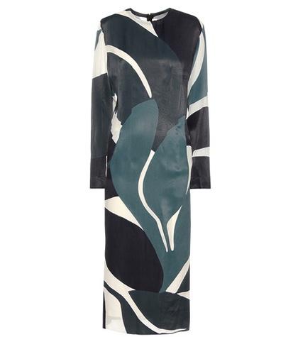 Marni Silk-blend Devoré Midi Dress