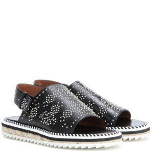 Givenchy Rocket Embellished Leather Sandals