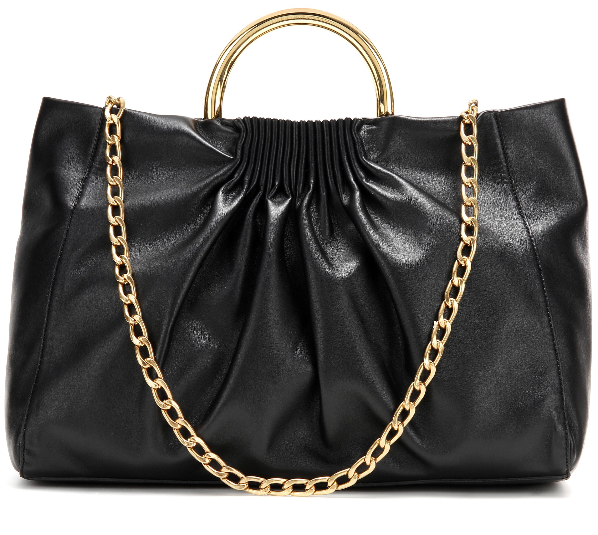 Stella McCartney black Nina Medium faux leather shoulder bag - designer tote bags