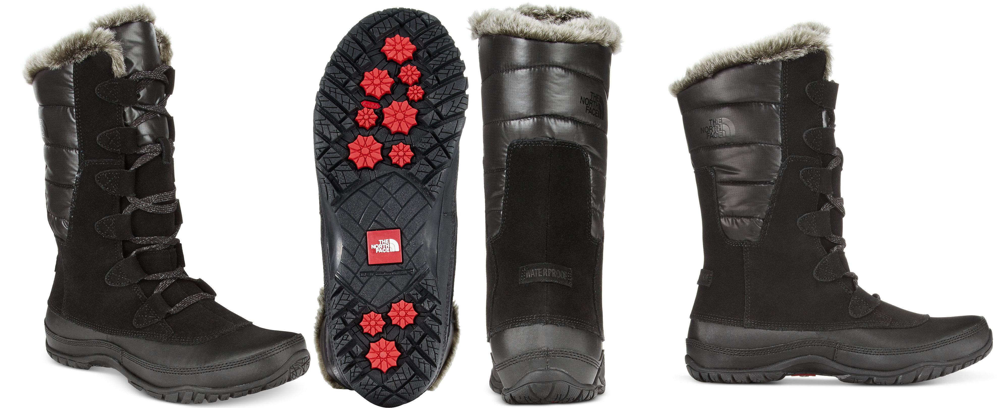 The North Face Women's Nuptse Purna Faux-fur boots in black