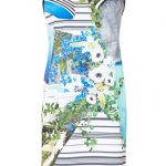 Clover Canyon Printed Pleat-Back Dress Multi