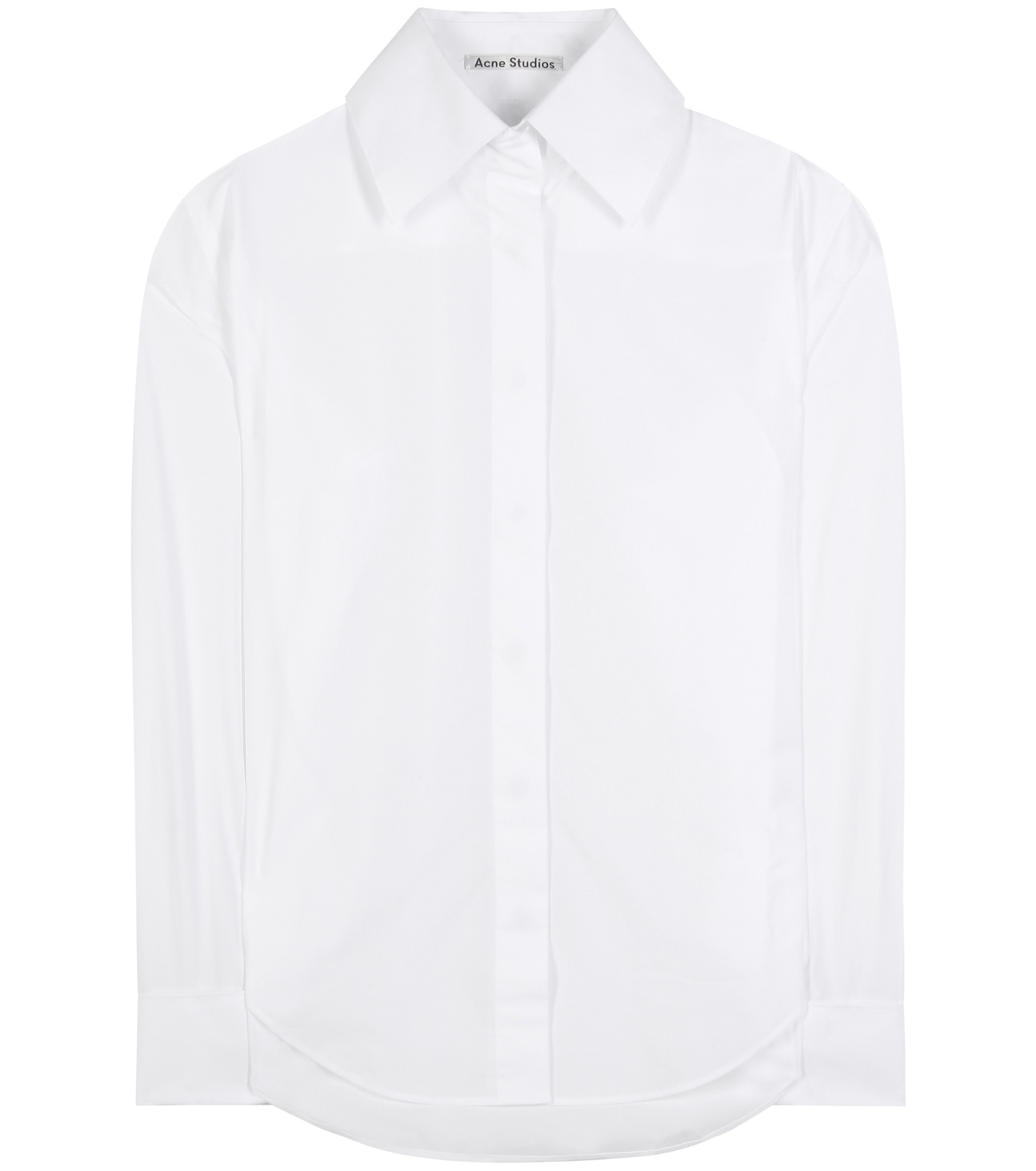 white acne studio Slade Pop cotton shirt