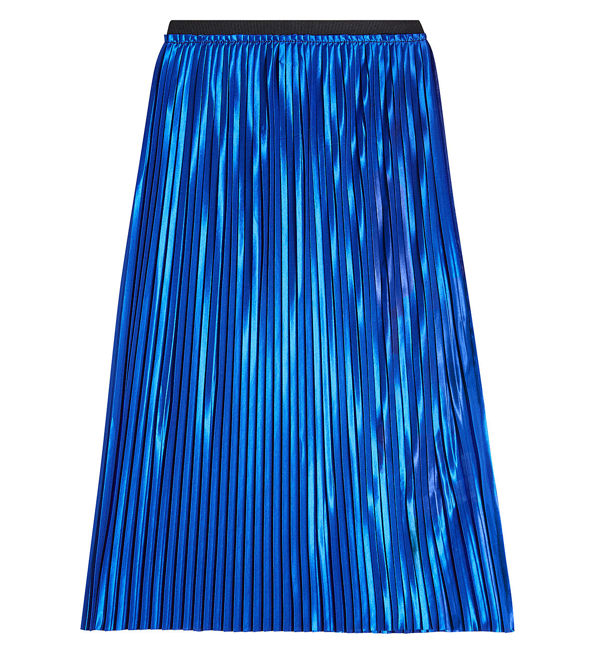 By Malene Birger metallic electric blue pleated skirt - $159