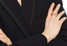 Luz Camino white pencil chip ring