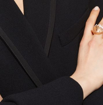 Luz Camino white pencil chip ring