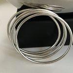 silver tone bangles bracelets set of 4 2