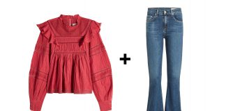 Isabel Marant Etoile Viviana Blouse with rag and bone cropped flared jeans