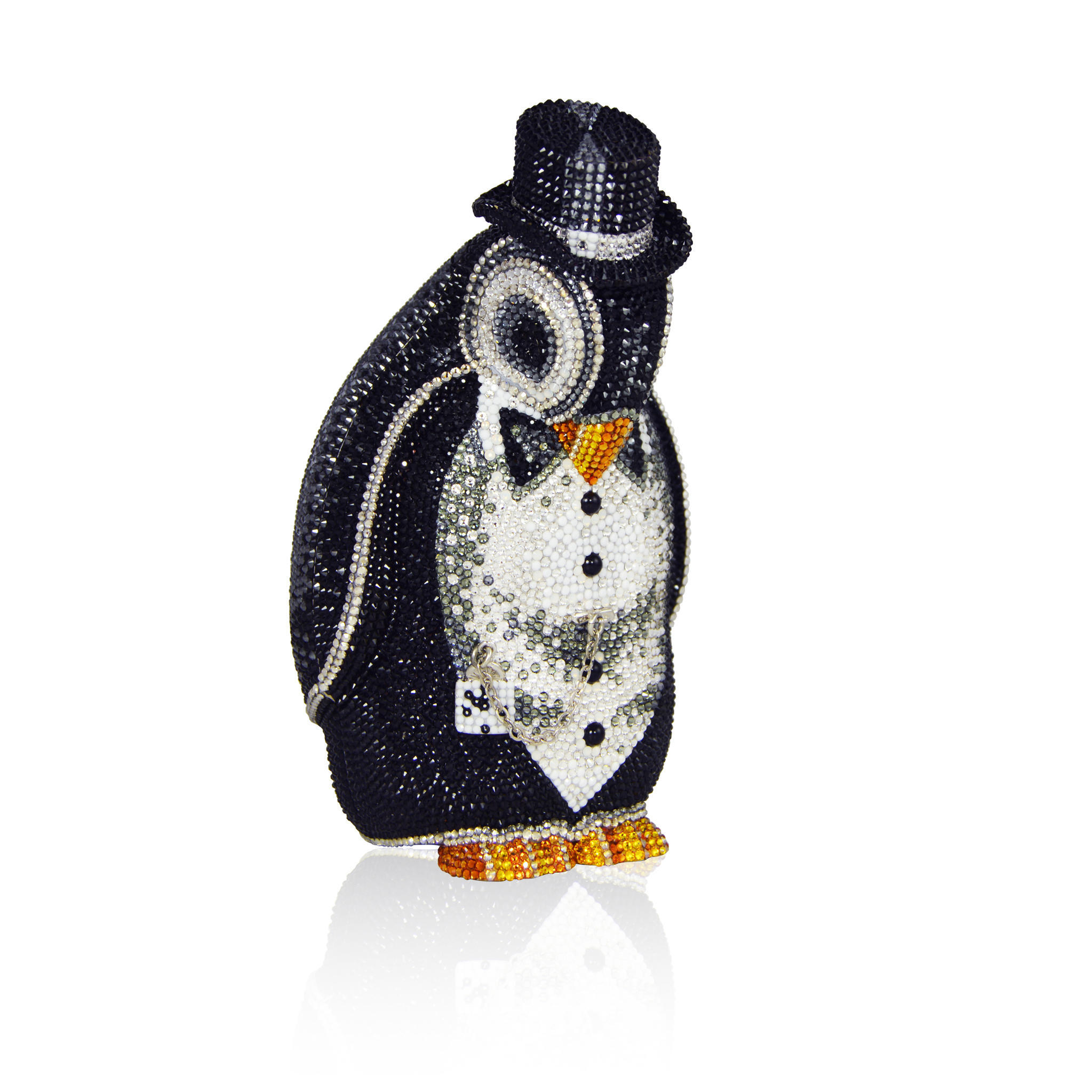 Judith Leiber Couture Crystal Encrusted Clutch Alfred Penguin 4995