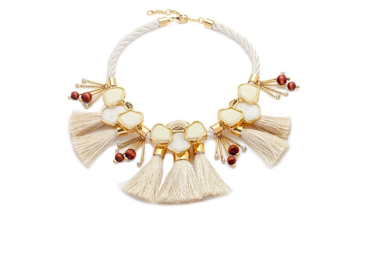 Lele Sadoughi Peking headress necklass