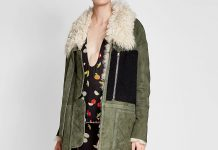 Sandy Liang Suede Shearling Jacket