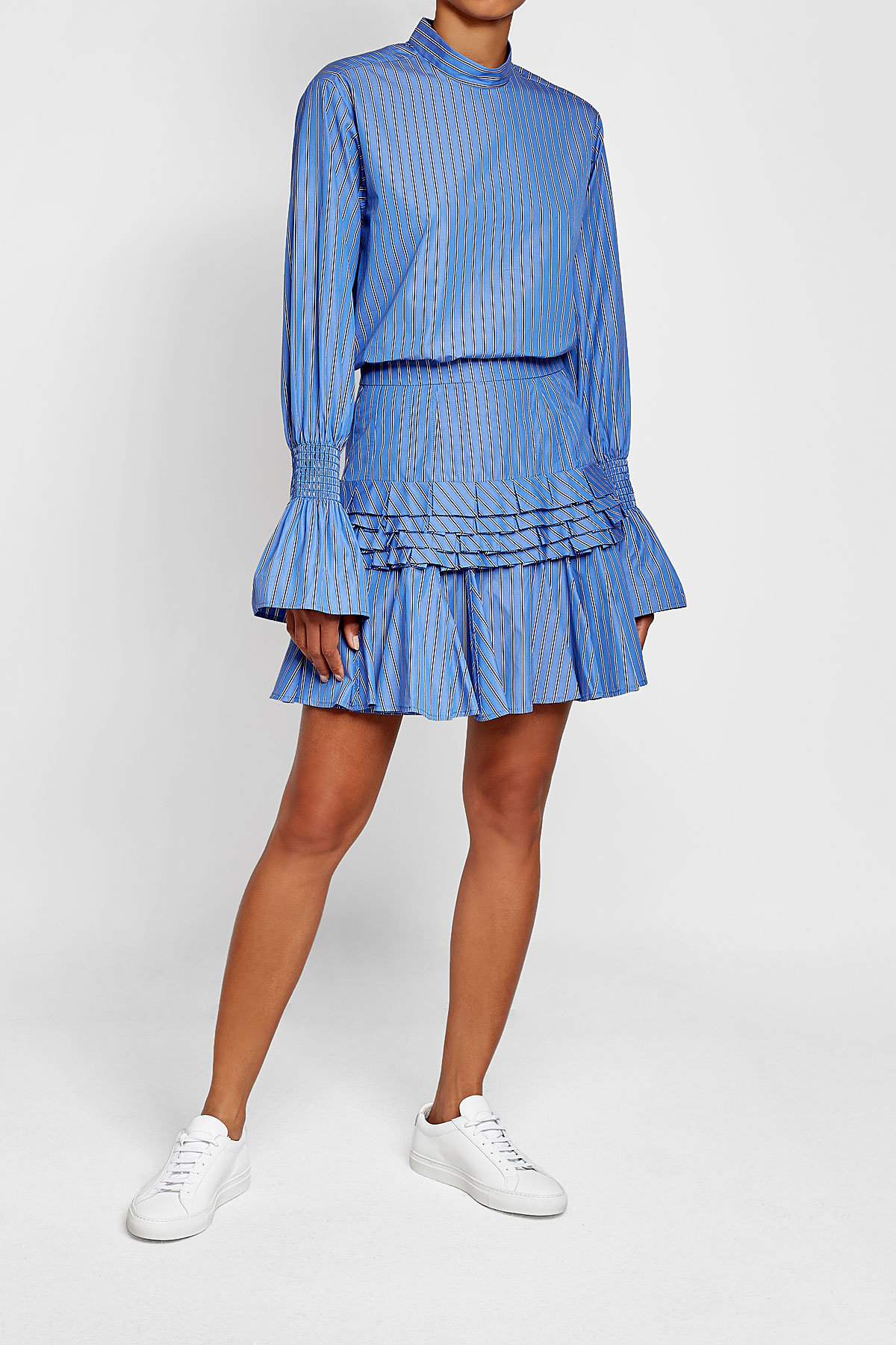 maggie marilyn Striped Cotton Shirt with Statement Cuffs - image via Stylebop.com