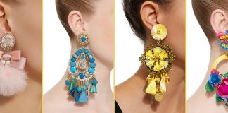 Stylish clip on earrings Ranjana Khan earrings
