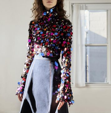 Carolina Herrera Long Sleeve sequin turtle neck