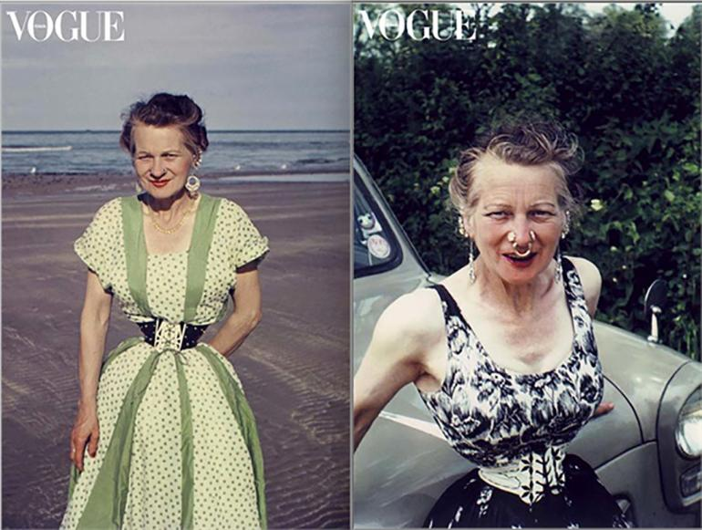Ethel Granger smallest waist 13 inches Vogue