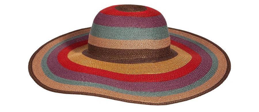 Etro Red Multicolor Striped Hat