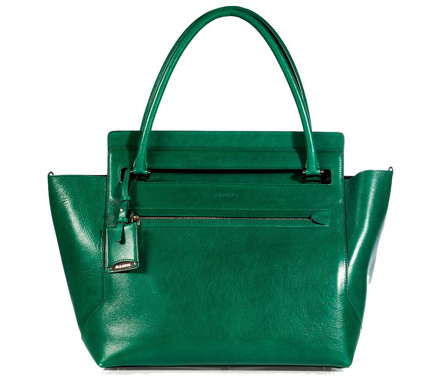 Jil Sander Emerald Leather New Malavoglia Bag $1745