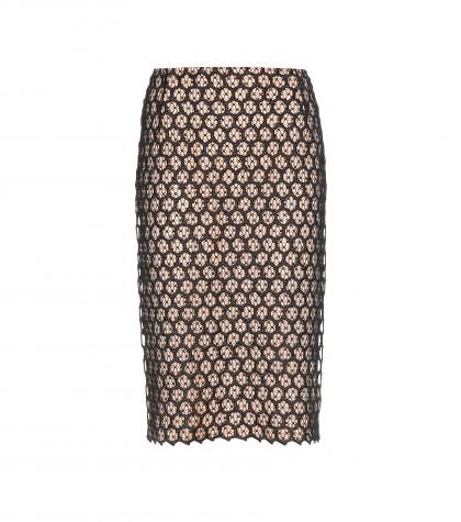 Alexander McQueen Lace Pencil Skirt