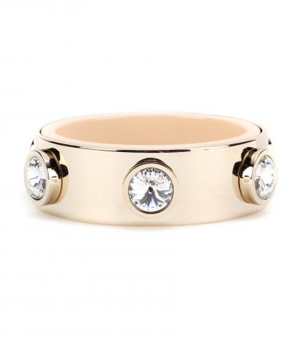 Givenchy Crystal-embellished Brass And Acetate Bracelet
