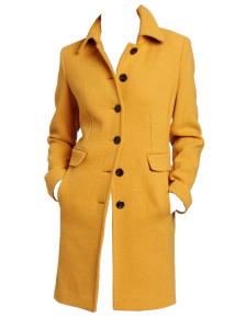 Calvin Klein Womens 3-4 Single Breasted Coat