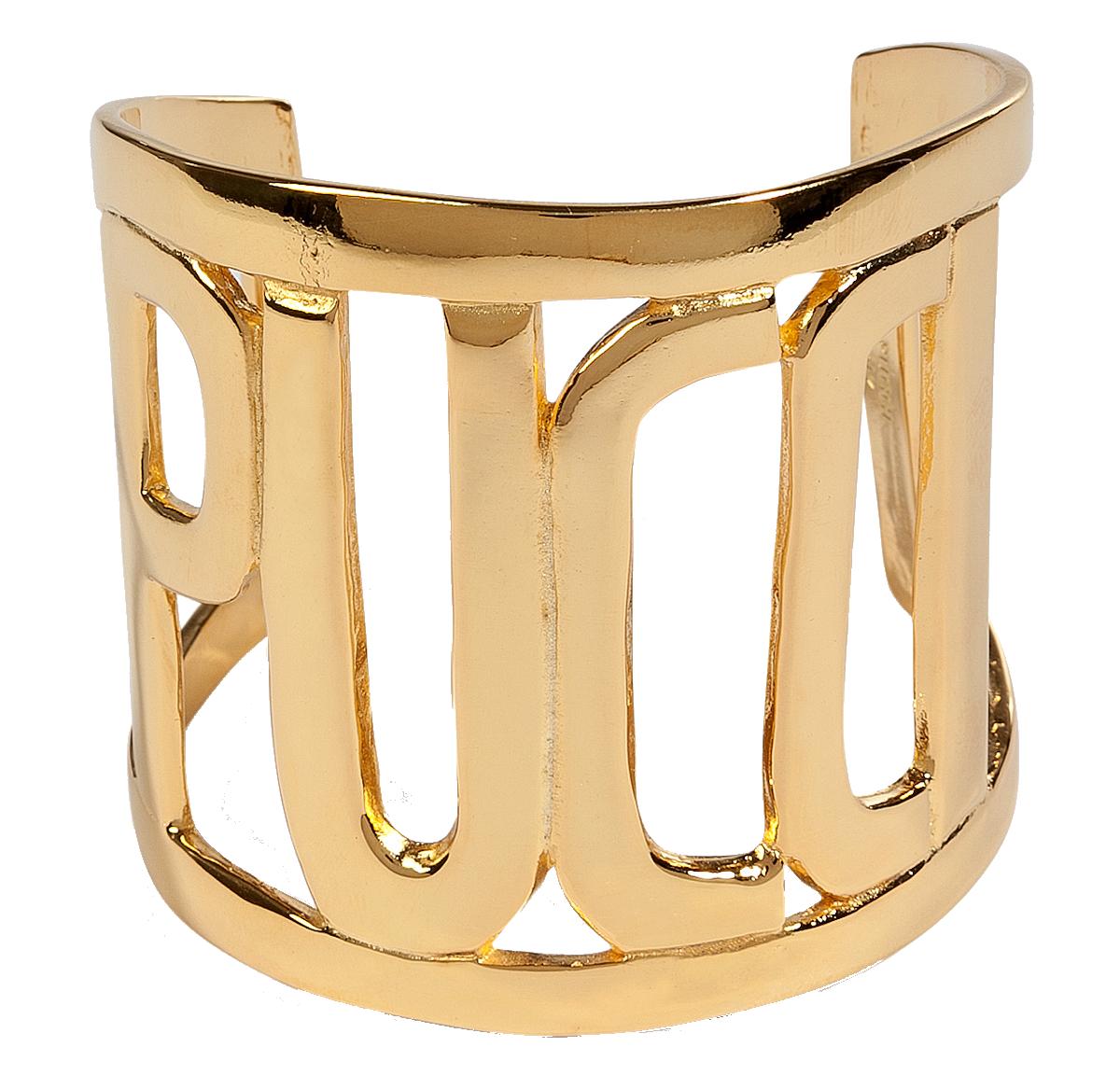 Emilio Pucci Gold-Tone Pucci Cuff
