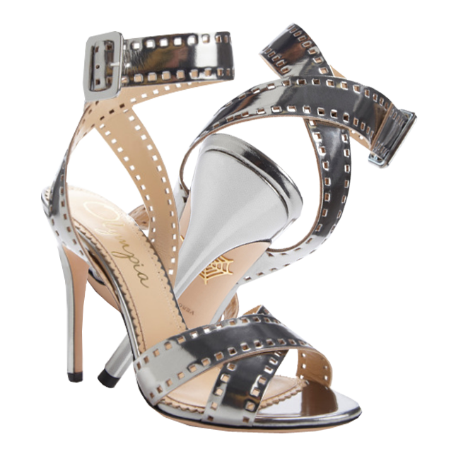 Charlotte Olympia Take 110 Metallic-Leather Sandals