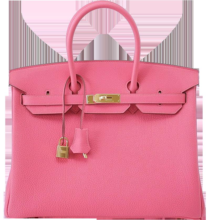 Hermes Birkin 35cm Rose Lipstick Pink Bag