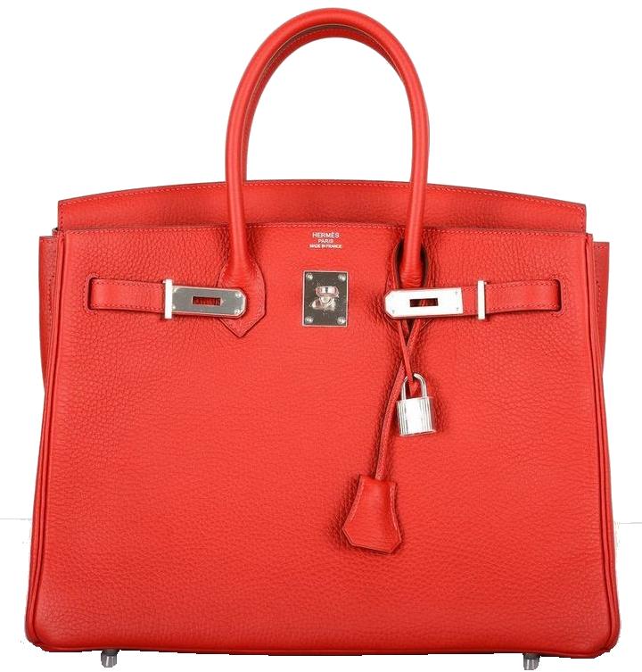 Hermes Rouge Casaque Red Togo Leather 35cm Birkin Bag