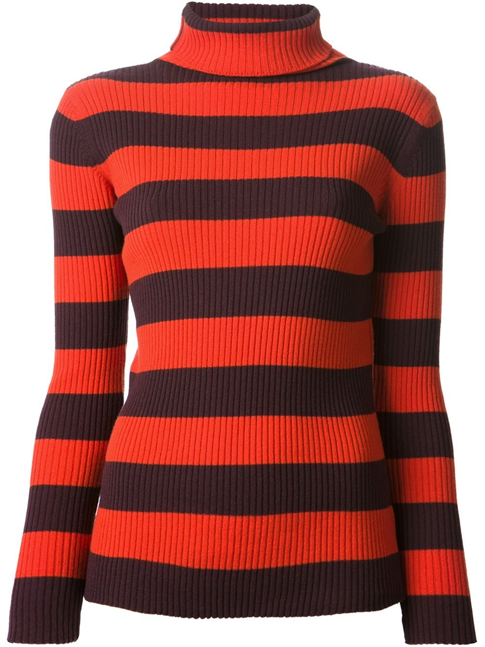 Multicolour cashmere-wool blend ribbed striped sweater from Juan Vidal