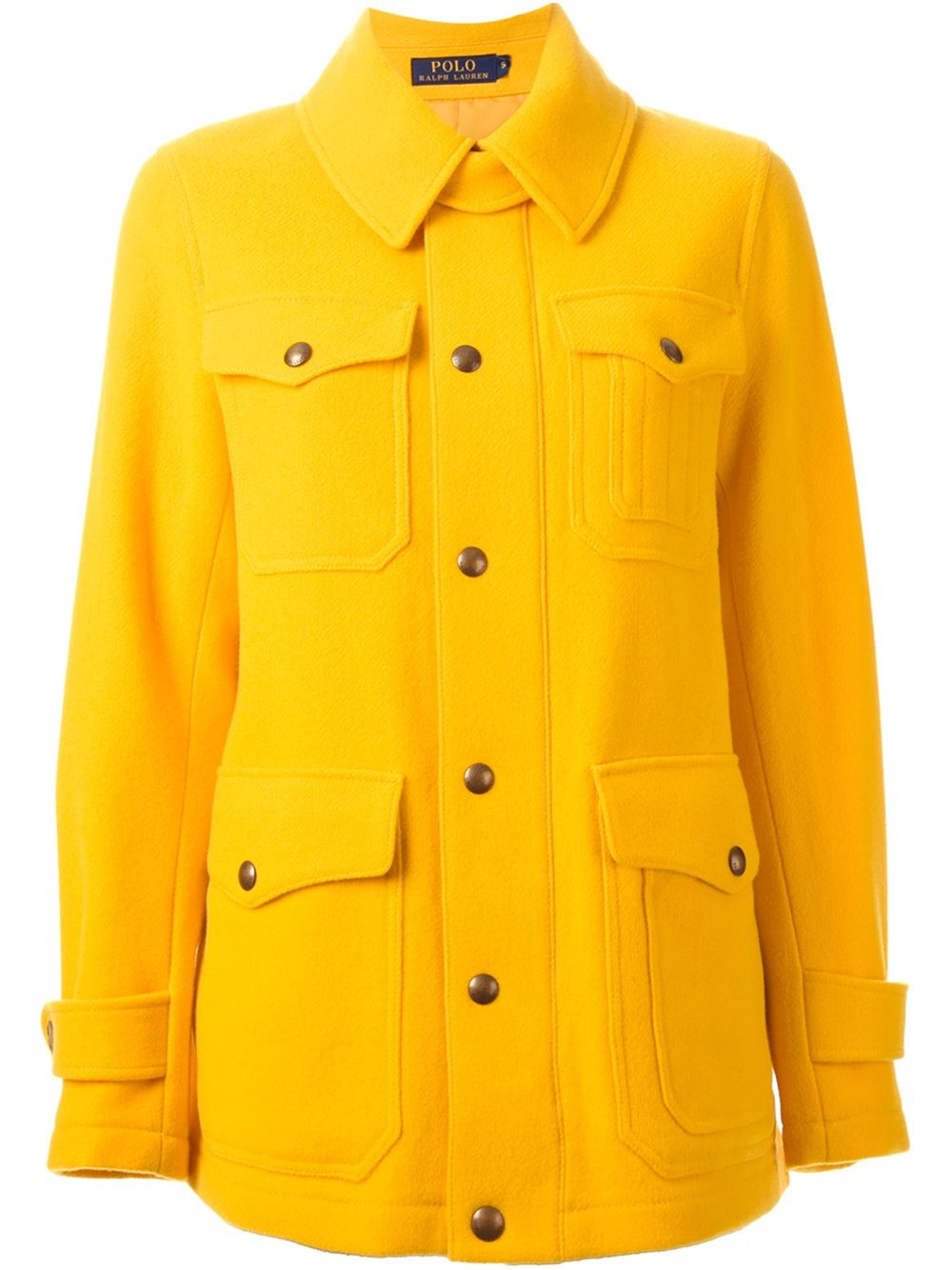 Polo Ralph Lauren yellow oversized pockets coat