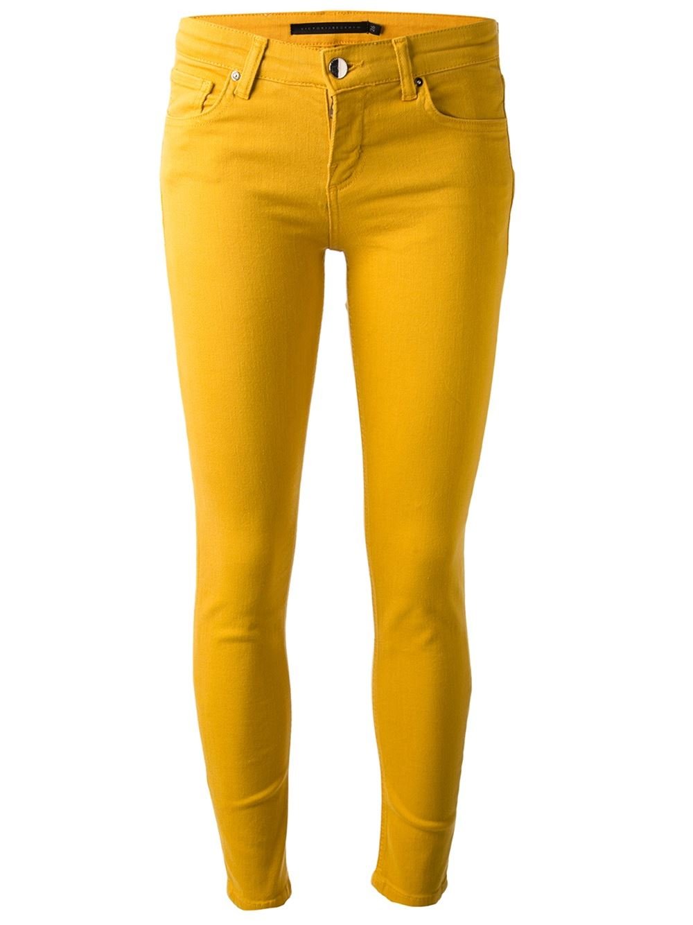 Yellow slim fit jean from Victoria Beckham Denim