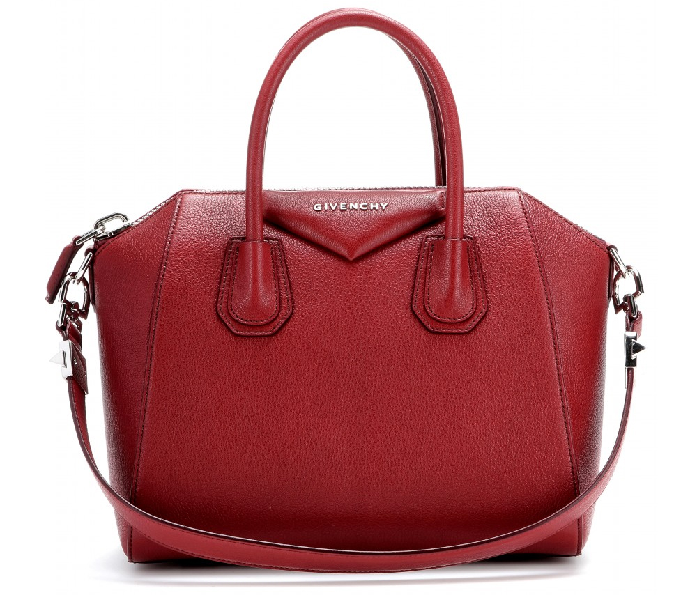 wine red Givenchy Antigona leather handbag