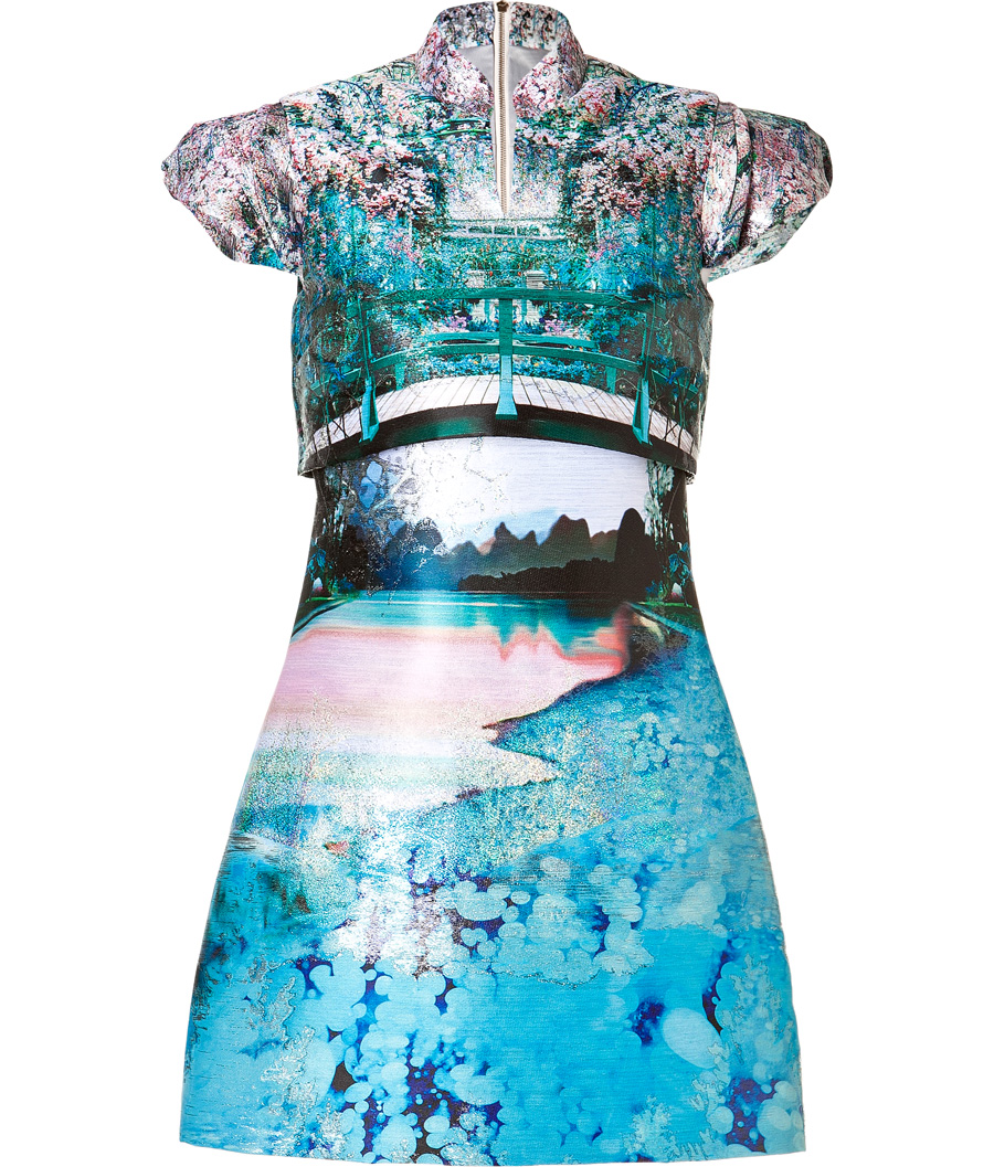 Mary Katrantzou Caspian Jacquard Valee Dress in Multi