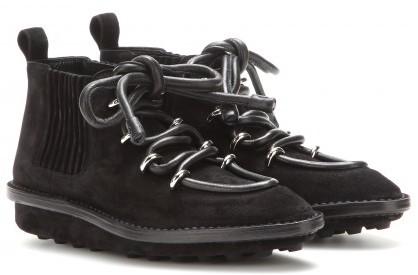 Balenciaga Snow Suede Ankle Boots