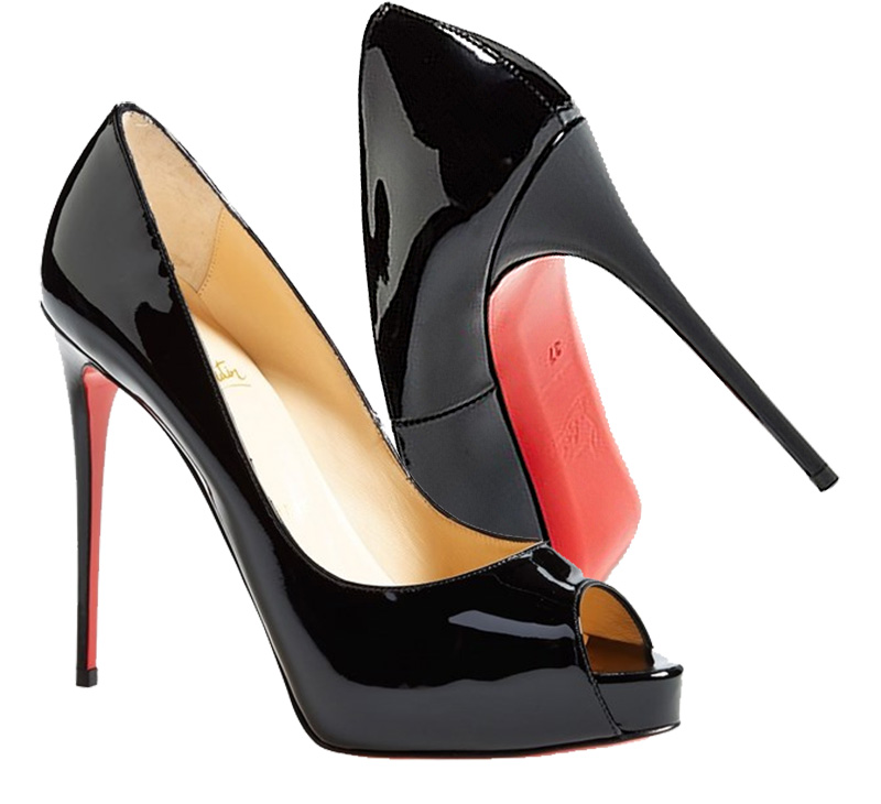 online retailer aac64 4f707 Christian Louboutin pumps black patent leather Prive Open ...