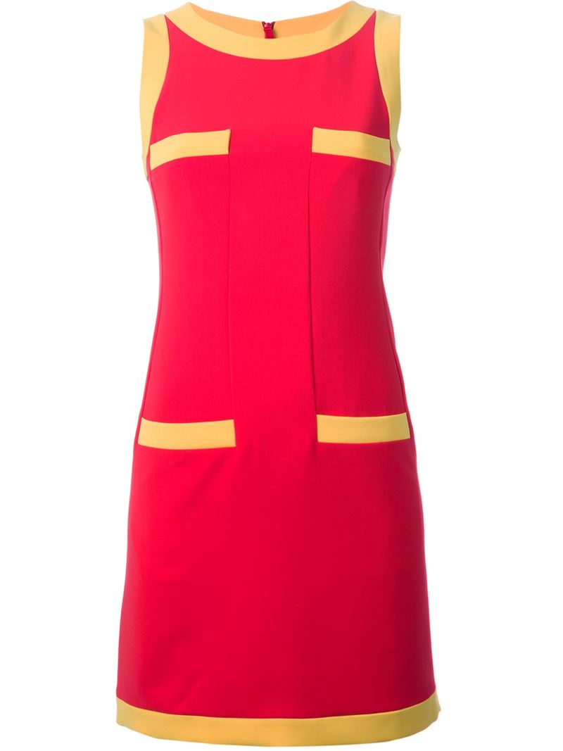MOSCHINO sleeveless shift dress