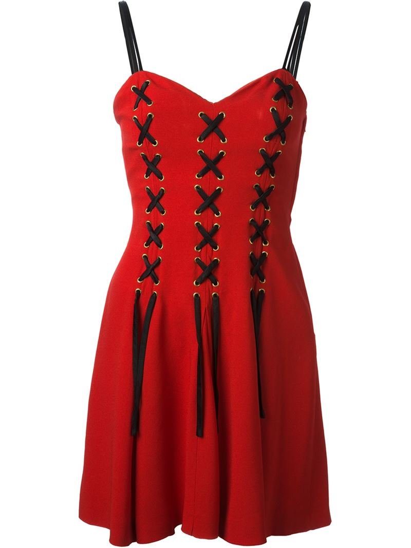 MOSCHINO VINTAGE corset cocktail dress