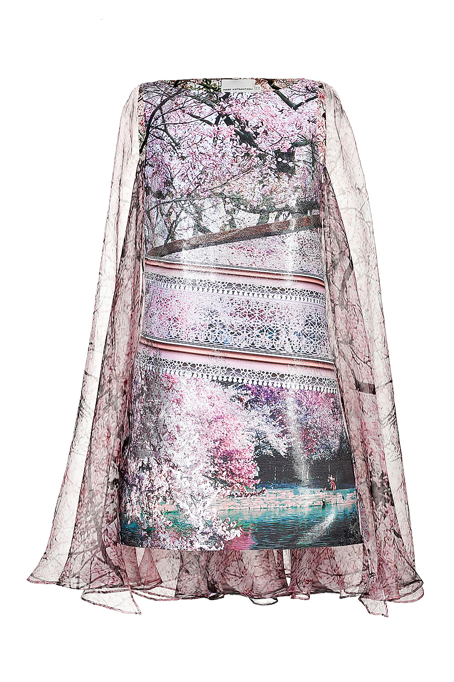 Mary Katrantzou JQ Planet Dress in Silver Multi