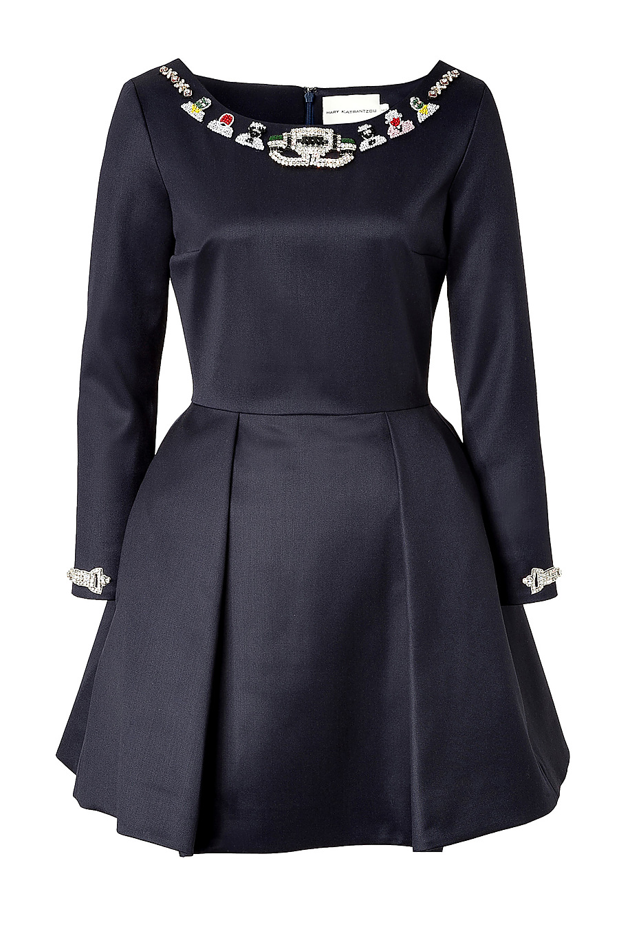 Mary Katrantzou Wool Embellished Copelia Dress