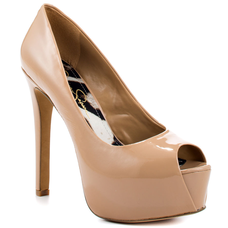6fbbe0f06b Jessica Simpson Carri peep toe pumps Nude Patent 2 - My Fashion Wants
