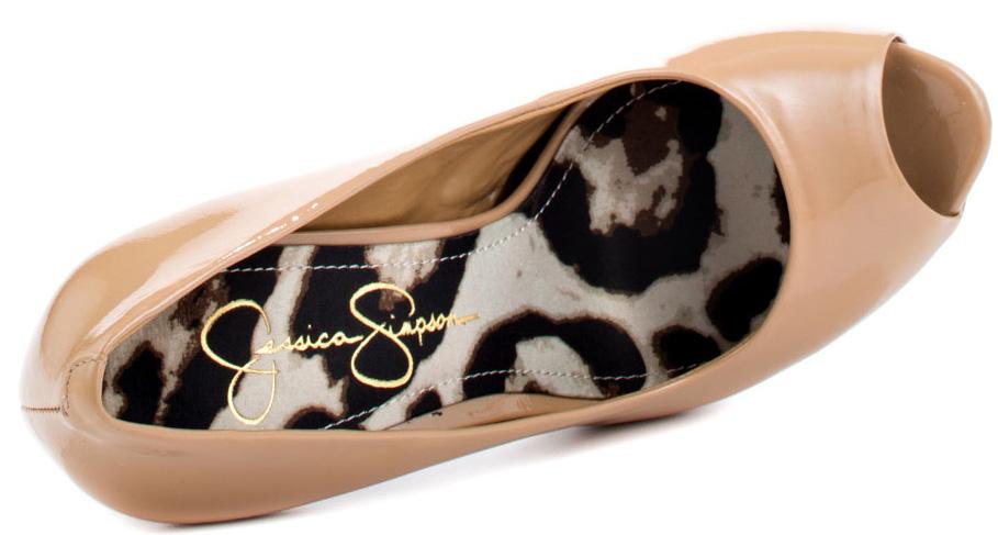 718c643300 Jessica Simpson Carri peep toe pumps Nude Patent 3 - My Fashion Wants