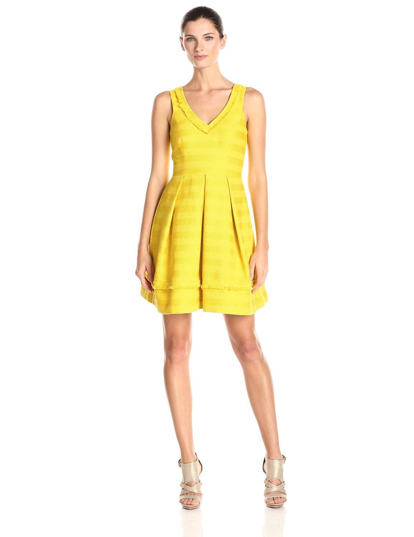 Crazy Daisy yellow Trina Turk Women's Shendi Canopy Stripe Fit N Flare Dress