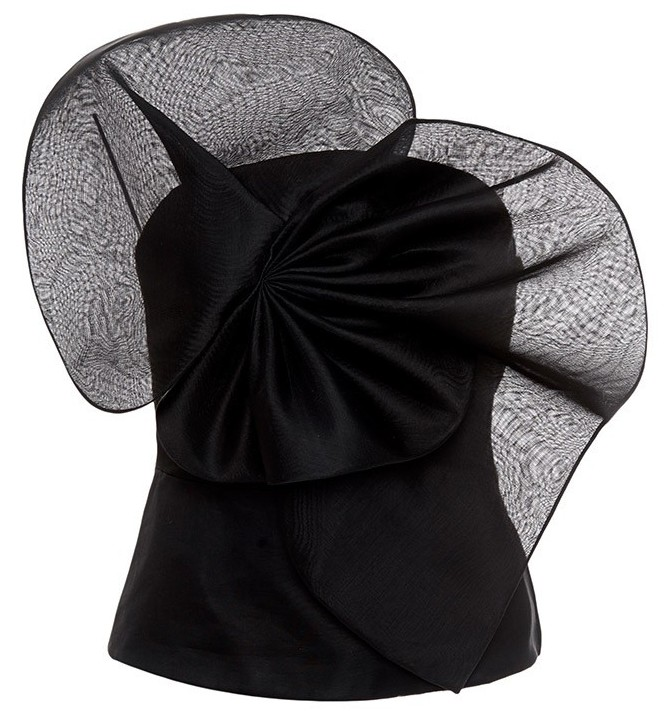 Stylish Black Delpozo organza top