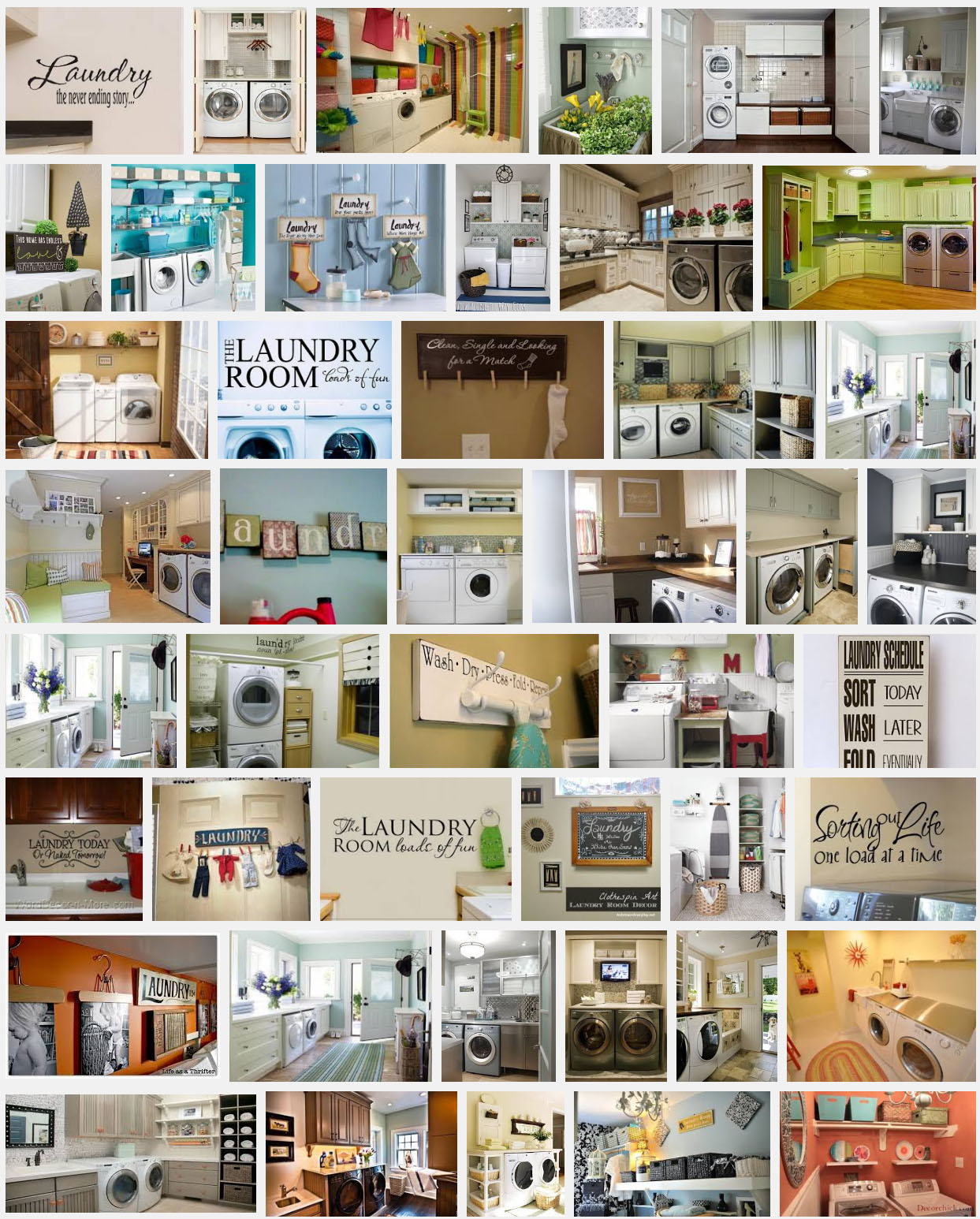 "Google Images screenshot of results for ""Laundry room decor"""