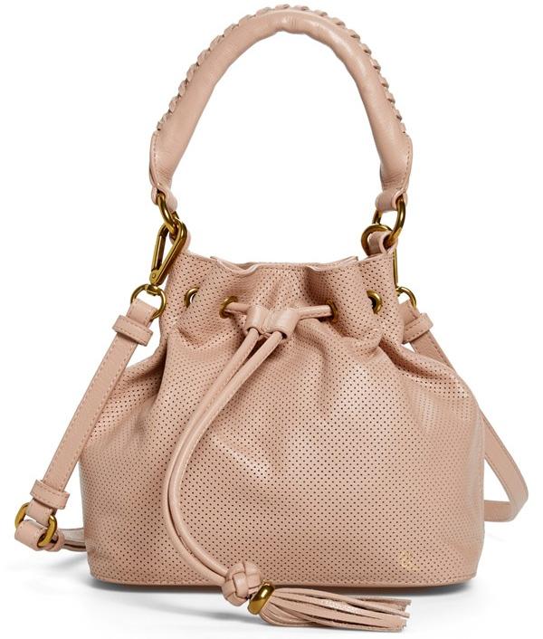 19ebf2bd1ee295 Elliott Lucca Gigi Bon Bon Perforated Leather Drawstring Bag