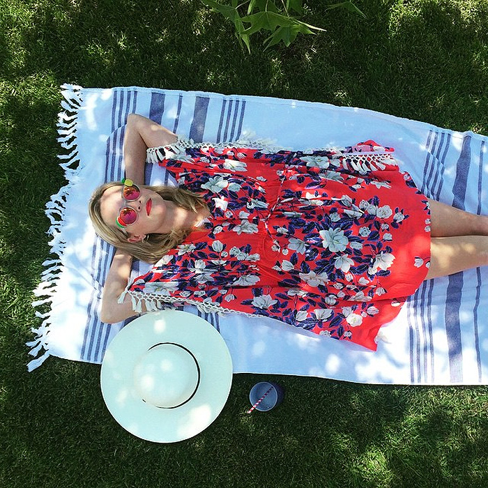 Reese Witherspoon Draper James kiawah cover-up Memorial Day