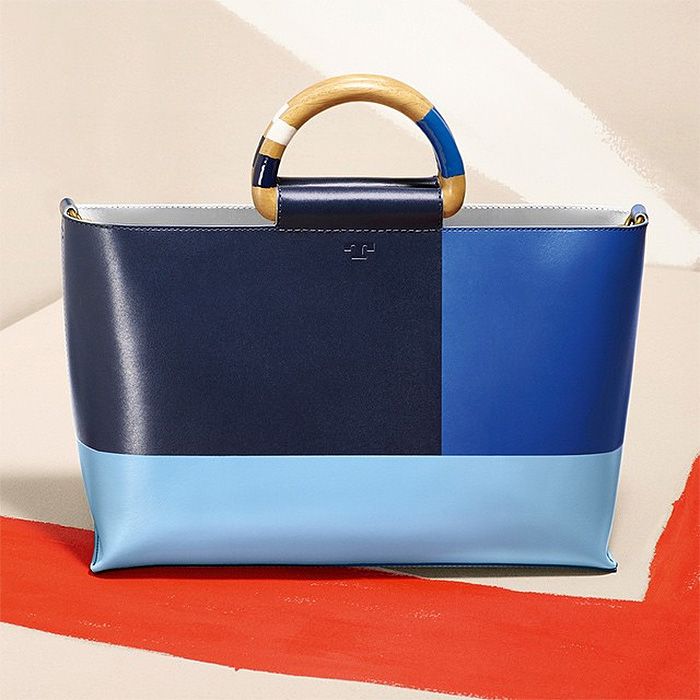Tory Burch color block tote
