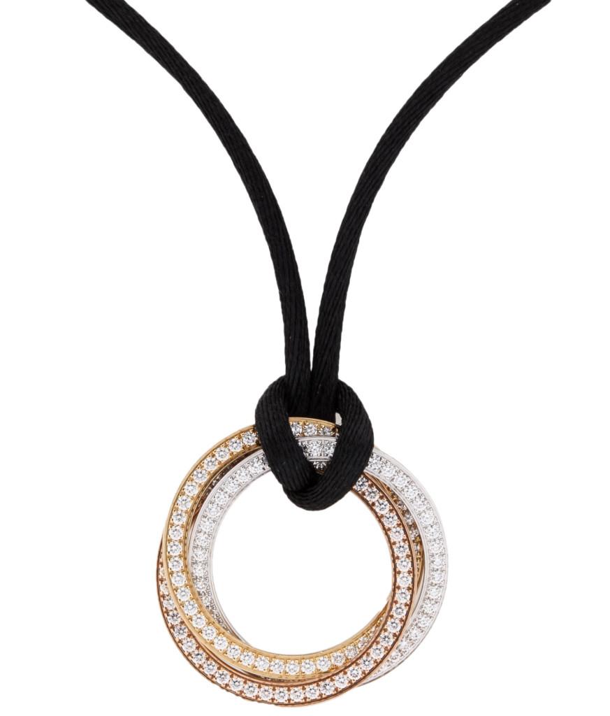 Cartier 18K Diamond Trinity Pendant Necklace