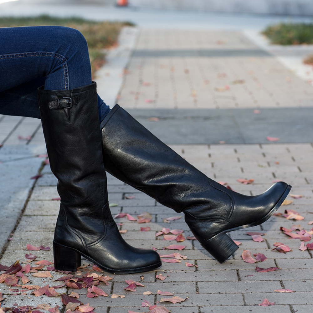 Dolce Vita Jeneva black leather knee high boots